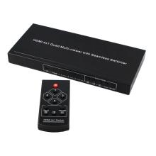 スイッチ機能付きHDMI 4x1クワッドマルチビューア