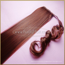 Long Indian remy Human Hair Drawstring Ponytail