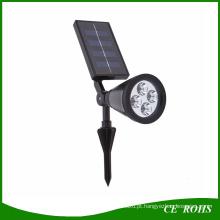 4 LED Solar Gramado Solar Jardim Lâmpada Spot Light Outdoor Gramado Paisagem Spotlight