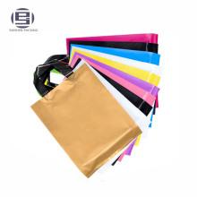 Sacs en plastique réutilisés de sacs à provisions de PE, sacs mous de poignée de boucle boucles en plastique