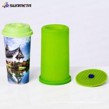 Sunmeta sublimação braçadeira de silicone para copo reta feito na china