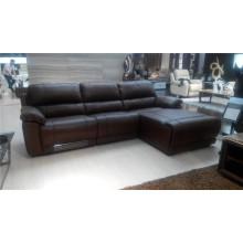 Sofá de salón con sofá moderno de cuero genuino (910)