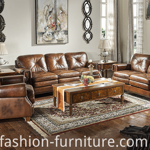 Leather 321 Set Sofa