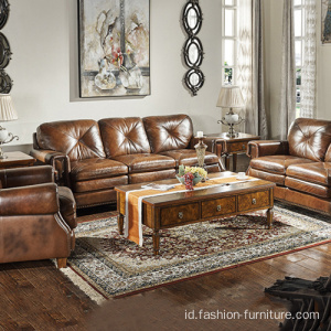 Sofa Living Room Leather 321 Set Sofa