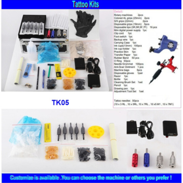 Wholesale Brand Quality Cheap Tattoo Kit with 2 Gun Tk05