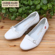 2015 novo estilo sem calcanhar calçado barato branco liso sapatos de couro