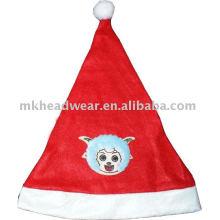 Kis süßer weihnachtshut mit fleckenarbeit