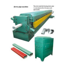 Rectangular roof panel water falling pipe forming machine