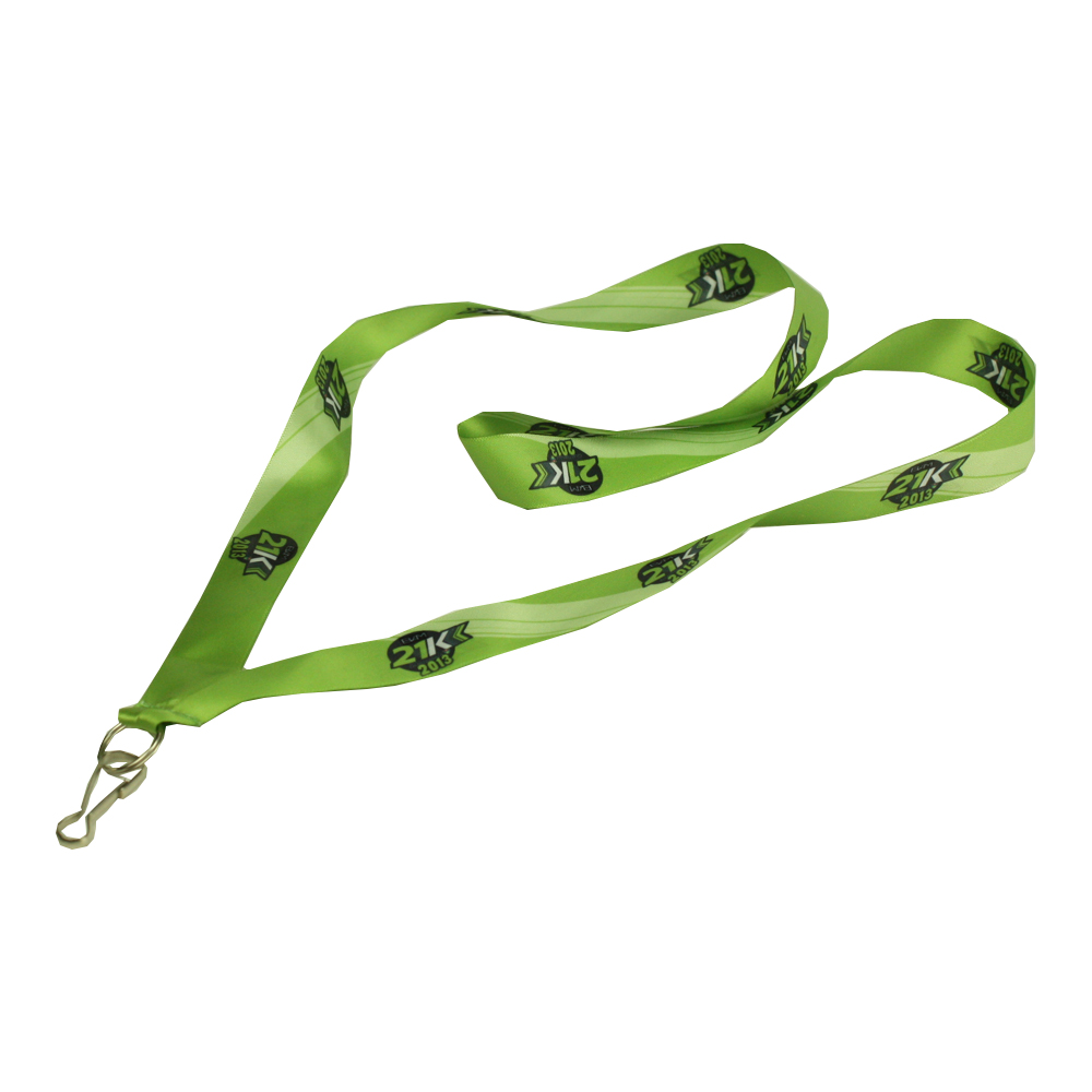 Recycling lanyard with Metal ID card Holder