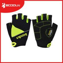 Пользовательские спорта на открытом воздухе Езда на велосипеде сетки половина палец перчатки для Велоспорт