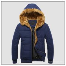 La última chaqueta de invierno básica de microfibra con capucha para hombres