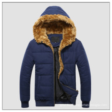 The lastest basic hooded microfiber youth winter jacket for men