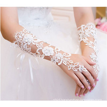 Fashionable high quality lady lace knit decoration wedding lace glove