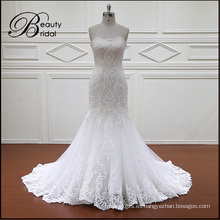 Venta caliente sirena Vintage apliques nupcial vestidos de novia (XF1088)