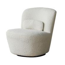 New Arrival Comfortable Single Sofa Chair Sheep Skin Fabric Swivel Chair Living Room Furniture
