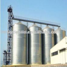 Hopper bottom grain storage steel silo for sale