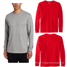 OEM Hommes Manches Longues Fitness Chemises Sport Running Gym T-Shirts