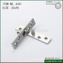 Dobradiça de pivô da porta de chuveiro ajustável de 95 * 20mm