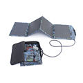 Chargeur de batterie solaire portable d'urgence étanche 60W pour les voyages