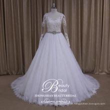 AK035 vestido de noiva puffy vestido 2017 de luxo