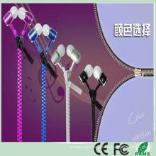 Fone de ouvido estereofónico do zíper do metal da cor de 3.5mm multi cor (K-916)