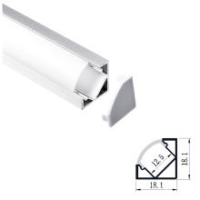 18X18 mm v shape led strip aluminium profiles