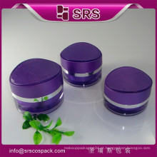 Unique Carving Eye Shape Luxo Cosmético Embalagem Acrílico Container E 15g 30g 50g Vendas Creme Purple Cosmetic Jar