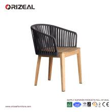 Chaise de salle à manger en bois extérieure en teck OZ-OR076