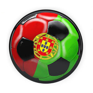 Portugal Soccer Flag Lapel Pin With Epoxy