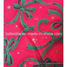 Fabrik Preis Customized Dekorative X'mas Blumen Glitter Stoff