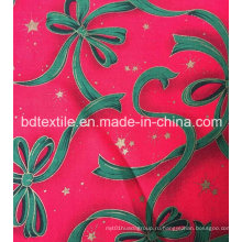 Фабрика Цена Подгонянный декоративный X'mas Цветы Блеск Ткань