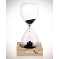 Creative wooden glass magnet magnetic hourglass timer