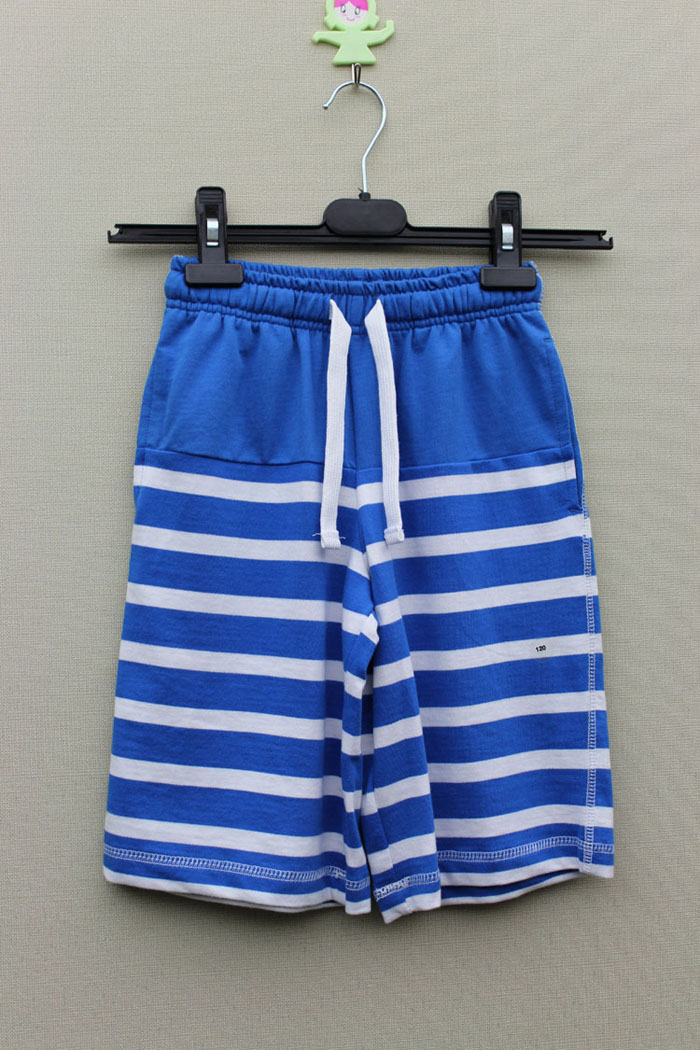 the boy's Yarn dyed stripe pants