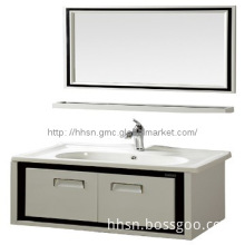 HH808041 Modern hanging stainless steel bathroom cabinet with basin