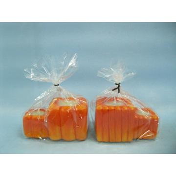 Pumpkin Candlestick Shape Ceramic Crafts (LOE2363-9z)
