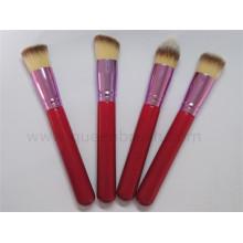 Mini conjunto de escova de maquiagem de viagem sintético 4pcs