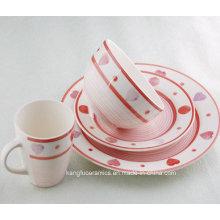 Conjunto de Jantar de Porcelana Fina Luxo