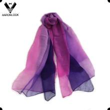2016 mujeres de gama alta de doble capa de seda y lana gasa Bufanda