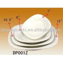 4pcs hotel porcelain set plate