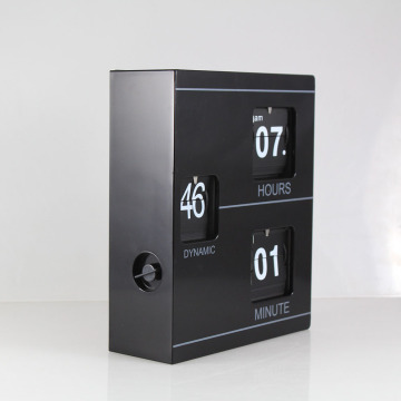 Metall Buchform Flip Clock
