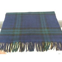 2016 hot sale new fashion blue grid shawl