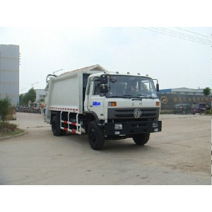 Dongfeng front loader garbage truck dumping videos