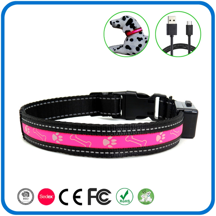 Led Shinning Light beleuchtete Haustier Hundehalsband