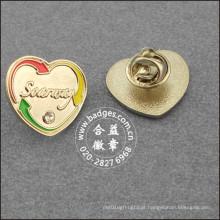 Pin da lapela da forma do coração, emblema feito sob encomenda (GZHY-LP-022)
