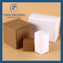 Kraft et boîte de papier blanc pour petit gâteau