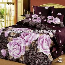 100% cotton rose 3D print bedding sheet