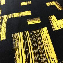 Rayon Demi Satin impresso com design quadrado