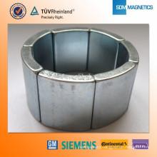 Professional manufacture Sintered car magnet ferrite magnet arc magnet