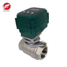 Le gaz de solénoïde électrique de 304 / UPVC a coupé le conduit de valve pour la piscine