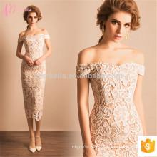 Weiß Nizza Design Off-Shoulder Stickerei ausgehöhlten Damen Guangzhou Großhandel Abendkleid